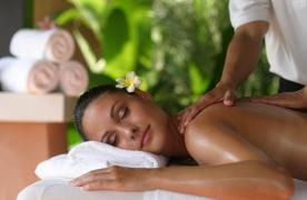 Restoration of vitality. Healing massage